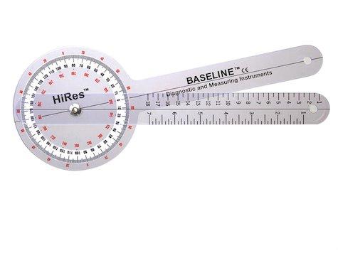 Baseline Hög Resolutions Goniometer 360 gr 20 cm