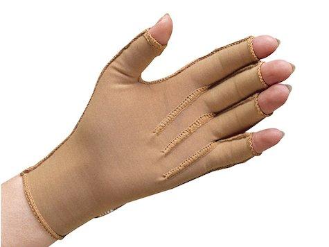 Bio-form® tryckhandske, öppna fingertoppar, till små barn, vänster.
