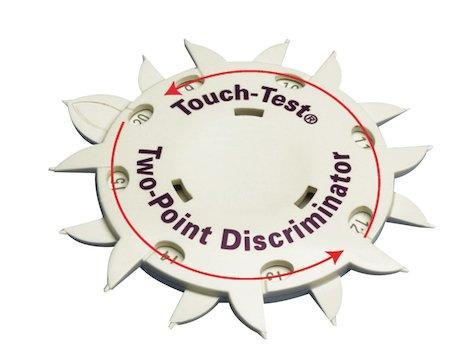 Touch Test Två Punkt Disk.