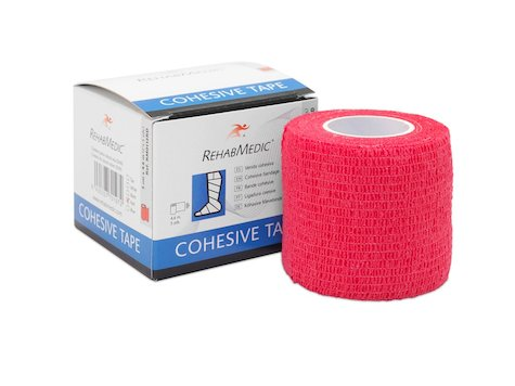 Cohesive Tape 5cm x4,6m Röt (1)