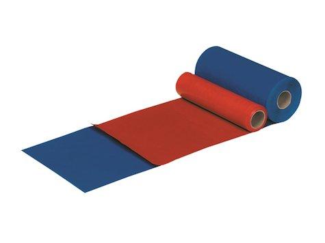Dycem matta på rulle, 20 cm bred, 9,1 m lång, röd.
