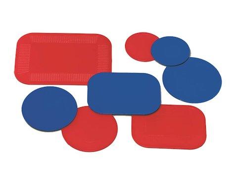 Dycem Rektangulär Antihalk Matta, 38 x 46 x 0,3 cm, röd.