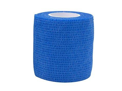 Elastisk tejp, Blå  Mått: 7,5 cm x 4,6 meter, (1st).