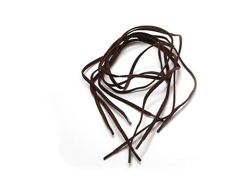 Elastiskt skosnöre, Brunt,  94 cm.