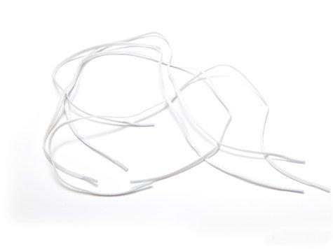 Elastiskt skosnöre, Vit,  94 cm.