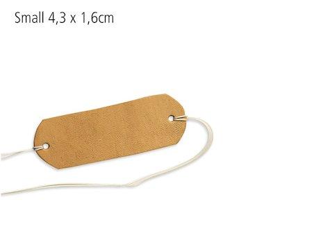 Finger Slinga i läder, 4,3 x 1,6 cm (10 st)