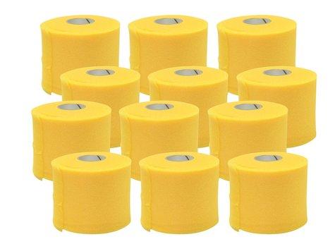 Förberedande Tejp, 7cm x 27,4 m, gul, (12 st).