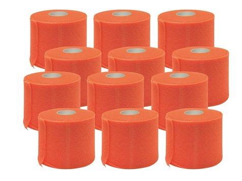 Förberedande Tejp, 7cm x 27,4 m, Orange, (12 st).