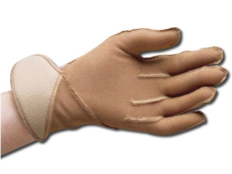Jobskin handske med kardborreband, Medium, Lång.