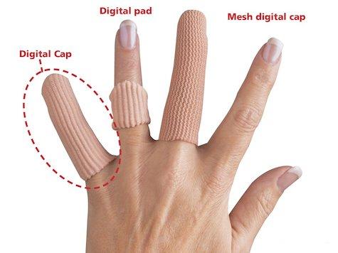 Silipad Digital Fingertopp, S/M, (6 st).