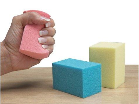 Slo-Foam ™ Hand Tränings-paket med 3 stycken, Medium (Blå).