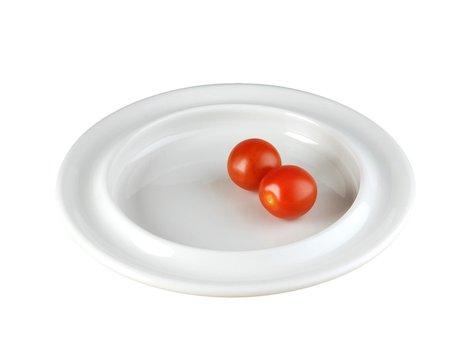 Steelite salladstallrik, Vit , 21,6 cm.