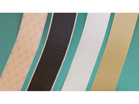Velcro Band Vit - Bredd 3,8 cm - Längd per. rulle 9,1m