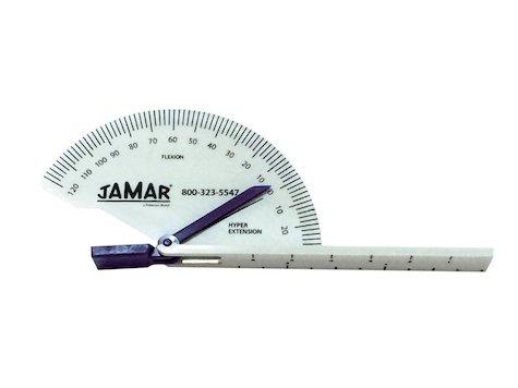 Finger goniometer med gångjärn med blå Visare ifrån JAMAR