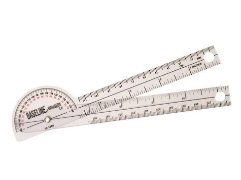 Goniometer 15cm, 180 grader, plast.