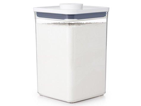 OXO POP Förvaringsburk, 4,2 liter, kvadratisk.