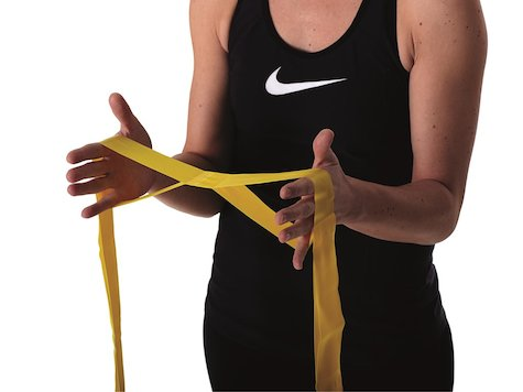 TheraBand CLX-band, 2,10 meter, gult