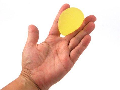 TheraBand handtträningsboll Gul (hårdhet 1/5).