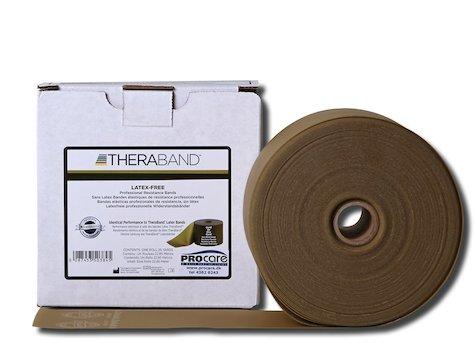 TheraBand latexfritt träningsband 22 m. guld