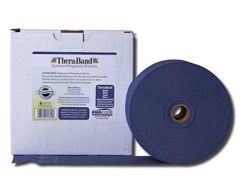 TheraBand latexfritt träningsband 45 m. blått
