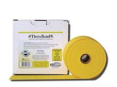 TheraBand latexfritt träningsband 45 m. gul