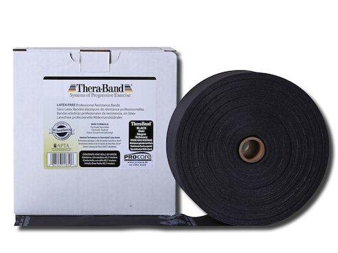TheraBand latexfritt träningsband 45 m. svart