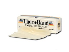 TheraBand träningsband 5,5 meter, beige.