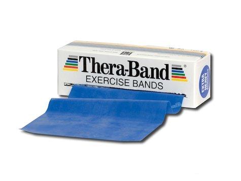 TheraBand träningsband 5,5 meter, blå.