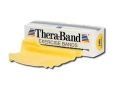TheraBand träningsband 5,5 meter, gul