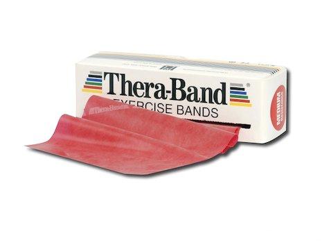 TheraBand träningsband 5,5 meter, röd