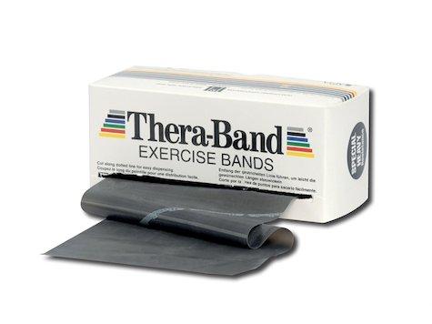 TheraBand träningsband 5,5 meter, svart