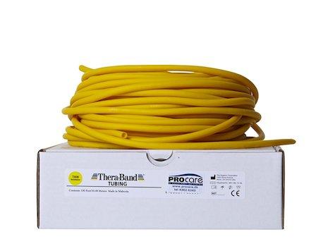 TheraBand, träningsslang 30,5 meter, gul.