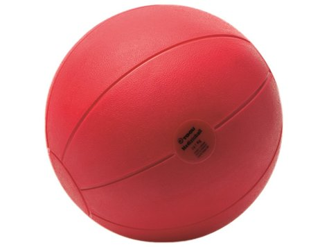 Medicin boll röd/brun 21cm ,1.0 kg.