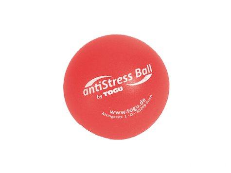 TOGU Anti-Stress Boll, 6,5 cm, röd.