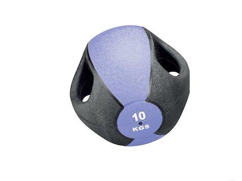 Esfera Boll med Handtag, 10 kg, Lila, ø28cm.