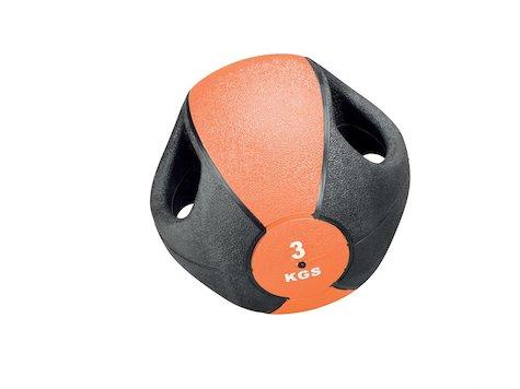 Esfera Boll med Handtag, 3 kg, Orange, ø23cm.