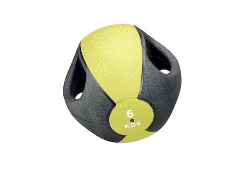 Esfera Boll med Handtag, 6 kg, Gul, ø28cm.