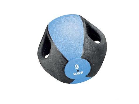 Esfera Boll med Handtag, 9 kg, Blå, ø28 cm.