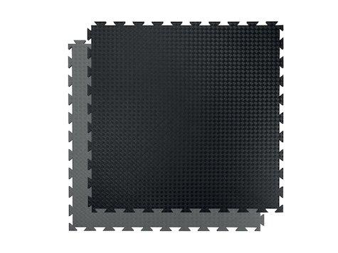 SportsMat Profi, 100 x 100 x 2cm, svart/grå.