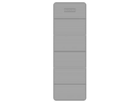 Träningsmatta, vikbar, 180x60x0,6 cm, grå.