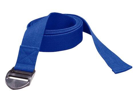 Yoga bälte 190 x 4 x 0,2 cm blått