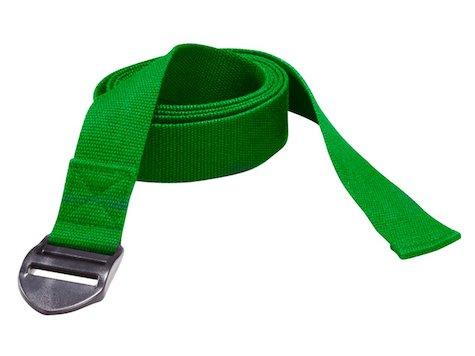 Yoga bälte 190 x 4 x 0,2 cm i Grönt