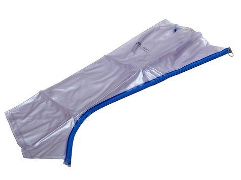 Urias luftskena / splint, ben med fot, 84 cm